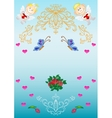 Festive greeting card vector image