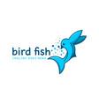 fish bird logo design template vector image vector image