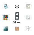 flat icon entertainment set of cube labyrinth vector image vector image