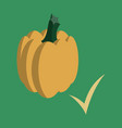 flat pumpkin autumn halloween or thanksgiving vector image