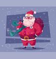 funny modern santa claus vector image vector image
