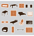 furniture stickers eps10 vector image vector image