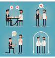 Gay couple love story vector image