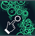 gears controlled by people vector image vector image
