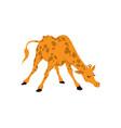 giraffe funny cartoon vector image