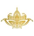 gold lotus border mandala vector image vector image