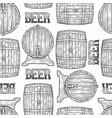 graphic barrels of beer vector image vector image