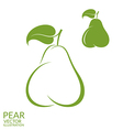 Green pear vector image vector image