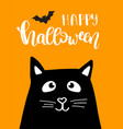 halloween kitten vector image vector image