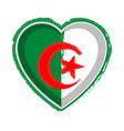 heart shaped flag of algeria vector image