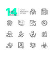 human resources - set of line design style icons vector image vector image