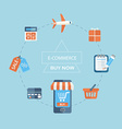 Infographic concept of purchasing via internet vector image vector image