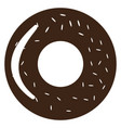 isolated donut silhouette vector image vector image