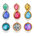 jewelry precious metal pendants and lavalieres vector image