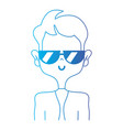 line funny man with elegant clothes and hairstyle vector image vector image