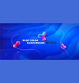 liquid blue color background design fluid blue vector image vector image