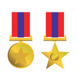 Military Bravery Medal of Honor Isolated vector image vector image