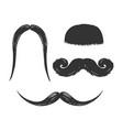 moustache engraving vector image vector image