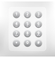 phone numbers with alphabet keyboard vector image