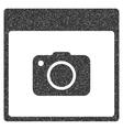 Photo Camera Calendar Page Grainy Texture Icon vector image vector image
