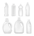 plastic empty bottles sanitary containers with vector image