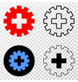 plus gear eps icon with contour version vector image vector image
