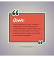 Quote card in retro vintage style vector image vector image