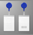 realistic blank office graphic id cards vector image vector image