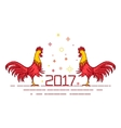 Red rooster card template vector image vector image