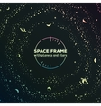 Retro futuristic frame with space stars and vector image vector image