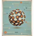 retro infographic sphere vector image vector image