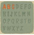 retro styled sans serif font vector image vector image