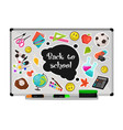 school white board vector image vector image