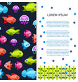 sea life banner - poster with fishes vector image vector image