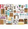 Seamless pattern with icons for Interior Thin vector image vector image