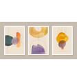 set abstract creative minimalist vector image