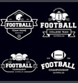 set american football related badges logos vector image