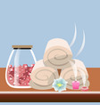 set different spa icons vector image vector image