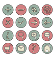 Set of doodle hand drawn icons vector image