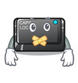 silent capslock button isolated with cartoon vector image