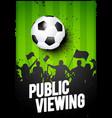 soccer football sport public vector image