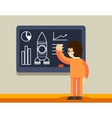 Start up plan on chalkboard vector image