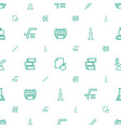study icons pattern seamless white background vector image vector image