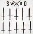 Sword Silhouettes vector image vector image