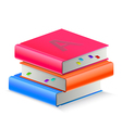 Three book with bookmark vector image vector image