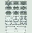 vintage restaurant labels vector image