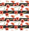 Watercolor poppy flowers pattern vector image