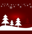 winter and christmas background vector image vector image