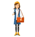 Woman using smartphone vector image vector image