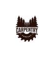 wood work carpentry logo vector image vector image